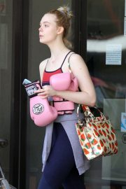 Elle Fanning Leaves Boxing Workout in Rancho Santa Margarita 2019/04/20 3