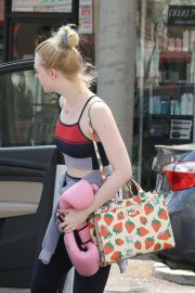 Elle Fanning Leaves Boxing Workout in Rancho Santa Margarita 2019/04/20 8