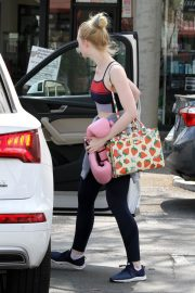 Elle Fanning Leaves Boxing Workout in Rancho Santa Margarita 2019/04/20 9