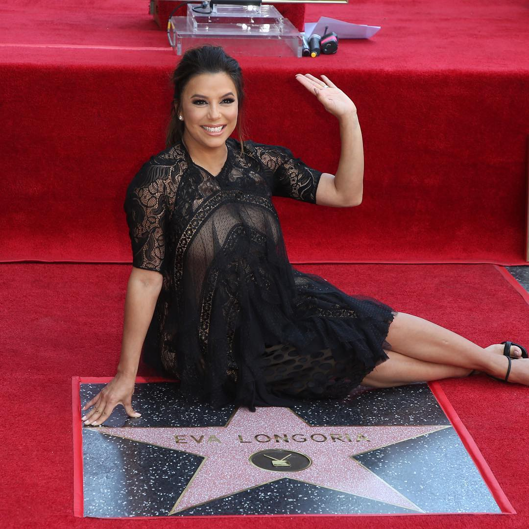 Eva Longoria Photos with Star on the Hollywood Walk of Fame 3
