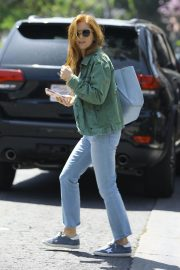 Isla Fisher in Denim Out and About in Los Angeles 2019/04/25 10