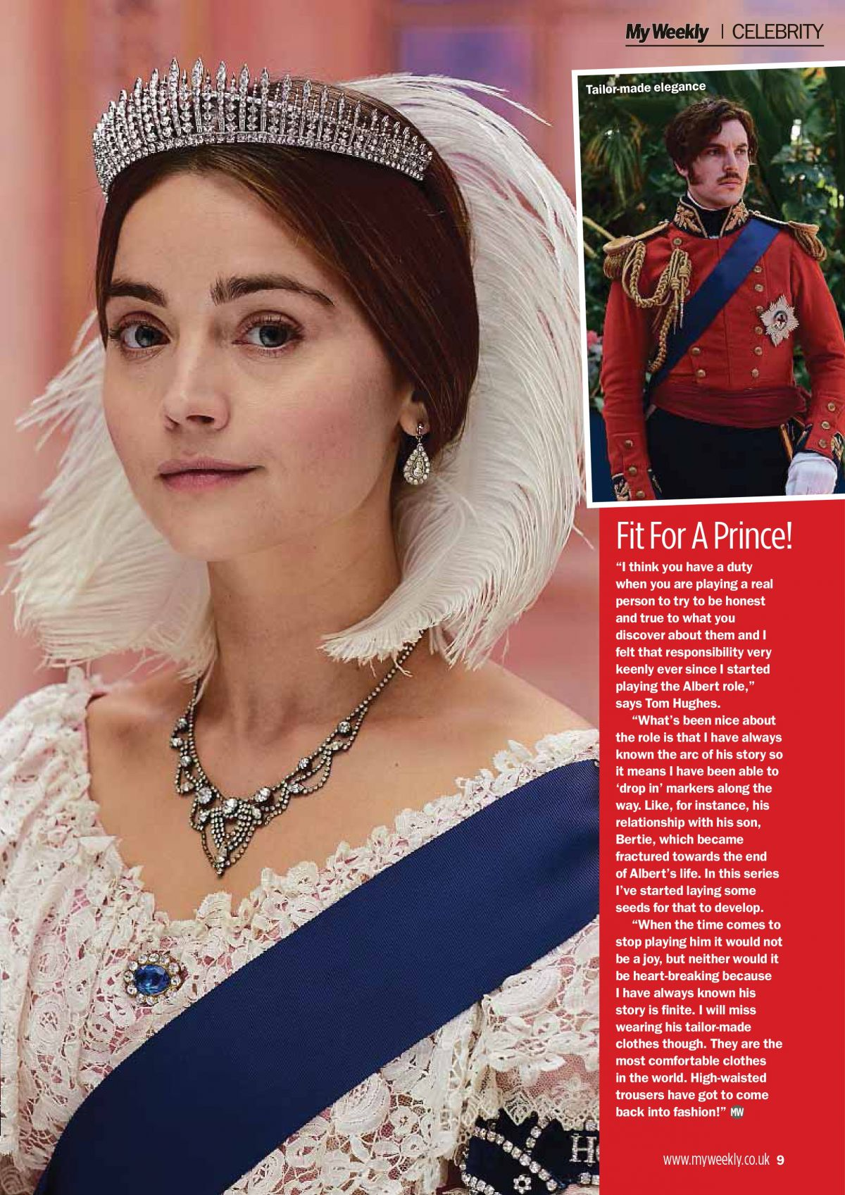 Jenna Coleman in My Weekly Magazine, UK April 2019 1
