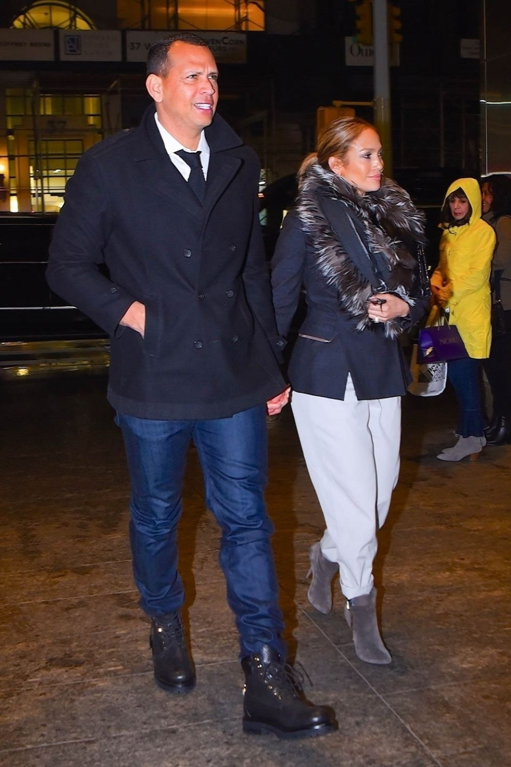 Jennifer Lopez and Alex Rodriguez Out for Dinner in New York 2019/04/27 1