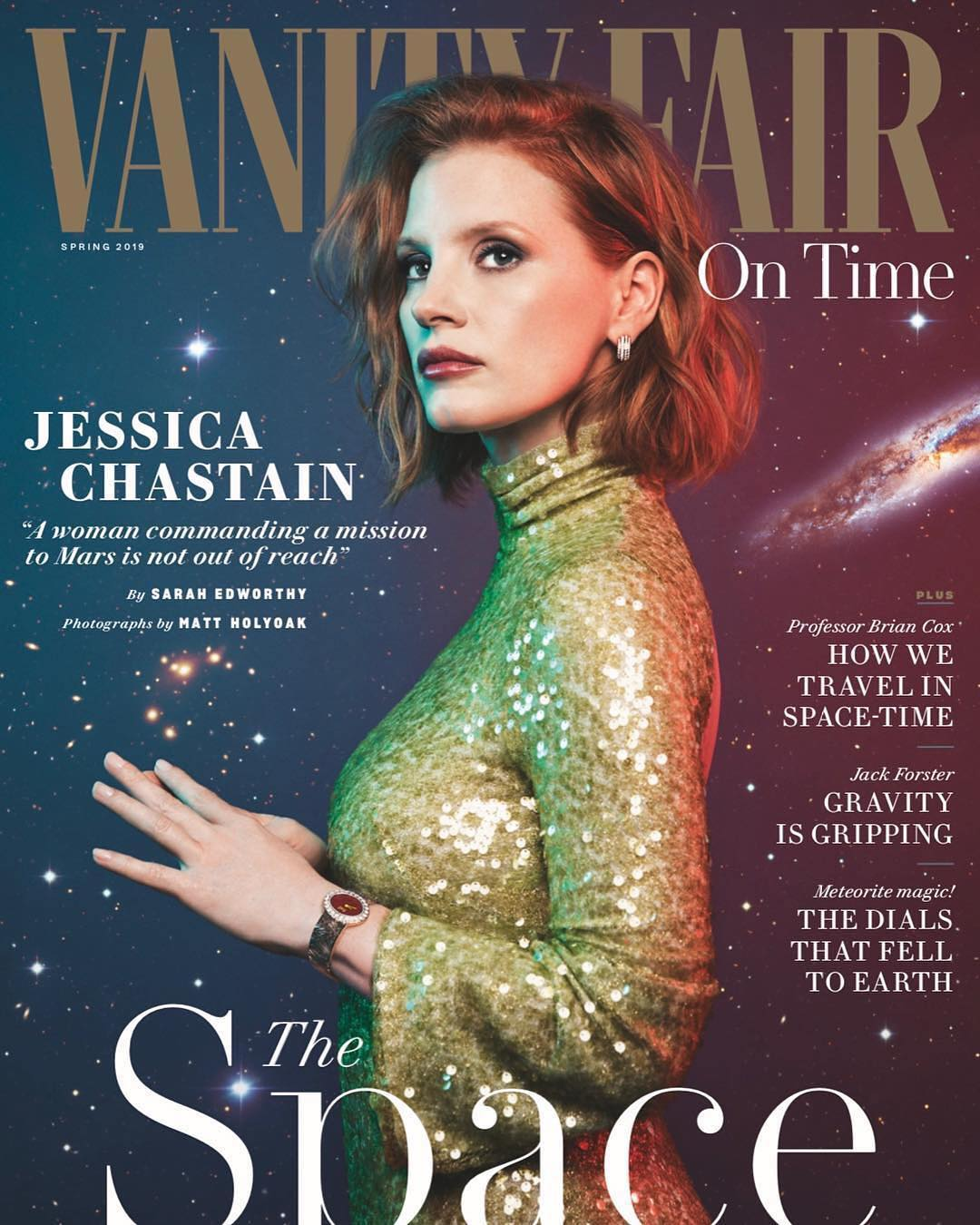 Jessica Chastain On The Cover Page Of Vanity Fair - Spring 2019 1