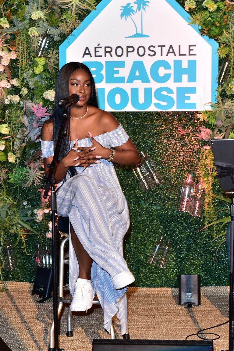 Justine Skye at Aero x Repreve Eco Friendly Collection with Performance by Justine Skye 2019/04/26 1