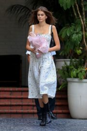 KAIA GERBER Arrives at Talita Von Furstenberg Celebrates Her First Collection for DVF in Hollywood 2018/04/25 4
