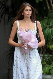 KAIA GERBER Arrives at Talita Von Furstenberg Celebrates Her First Collection for DVF in Hollywood 2018/04/25 8