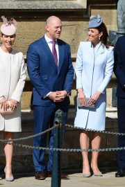 Kate Middleton at Easter Sunday Church Service at St George's Chapel in Windsor 2019/04/21 1