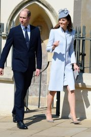 Kate Middleton at Easter Sunday Church Service at St George's Chapel in Windsor 2019/04/21 4
