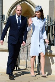Kate Middleton at Easter Sunday Church Service at St George's Chapel in Windsor 2019/04/21 5