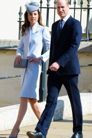 Kate Middleton at Easter Sunday Church Service at St George's Chapel in Windsor 2019/04/21 7