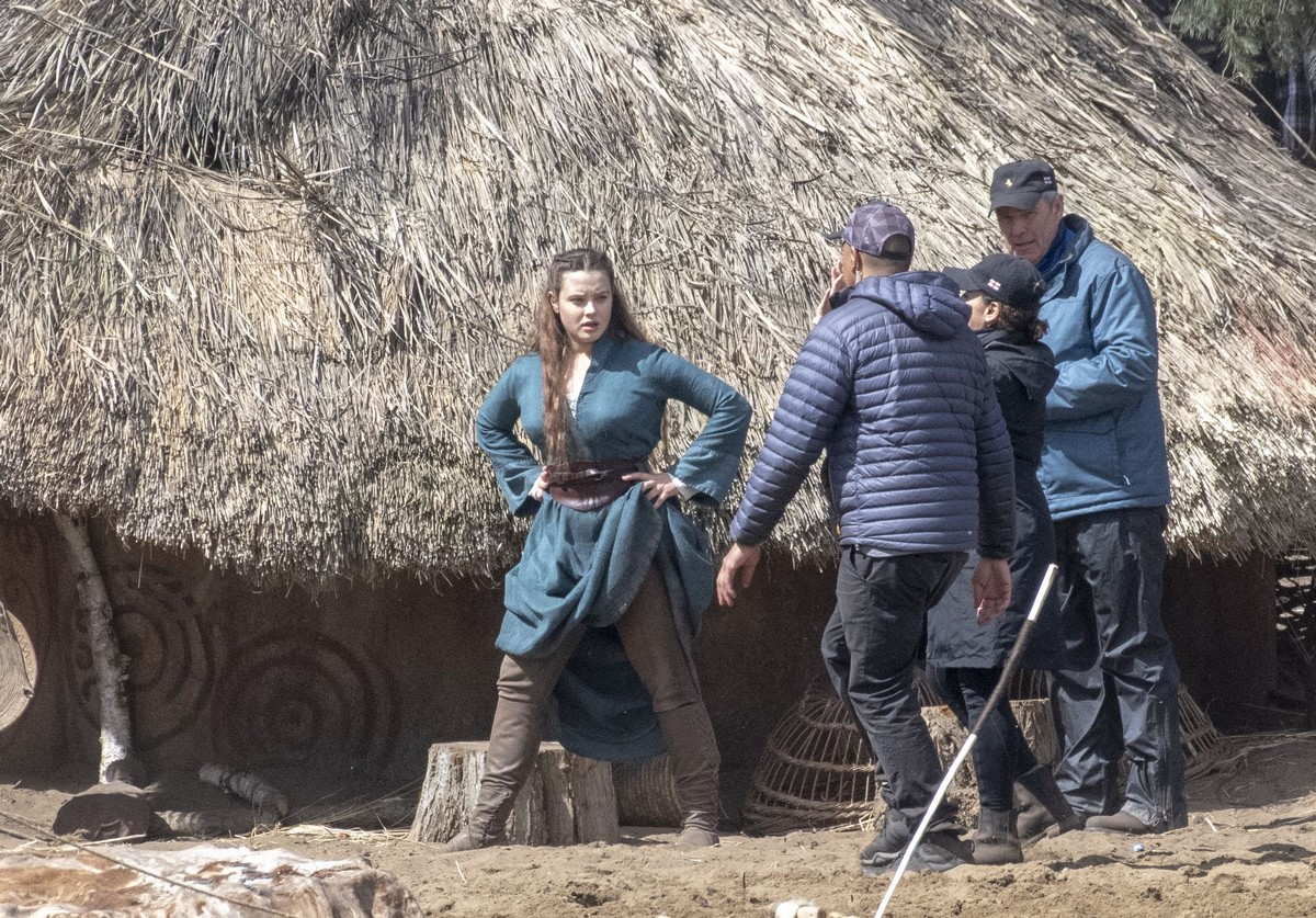 "Katherine Langford at Netflix TV Series Called ""Cursed"" in Frensham 2019/04/27 1"
