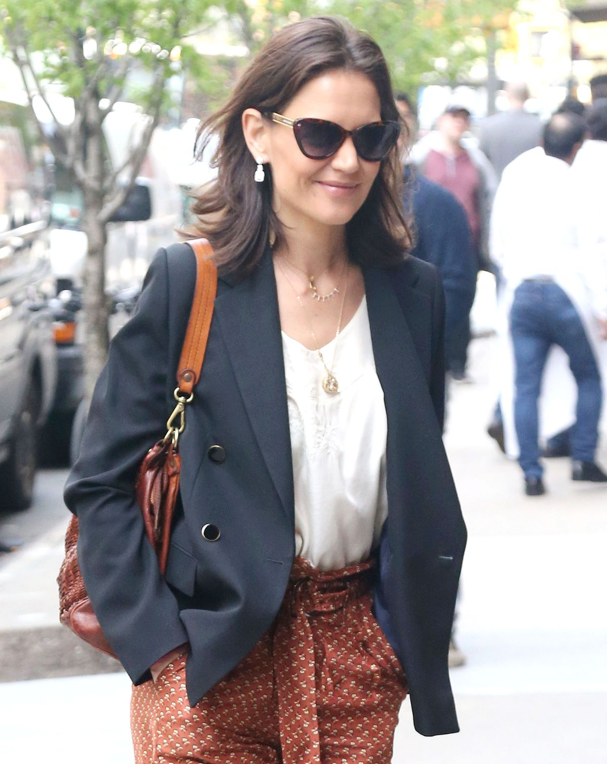 Katie Holmes Arrives at Tribeca Film Festival Luncheon in New York 2019/04/25 1