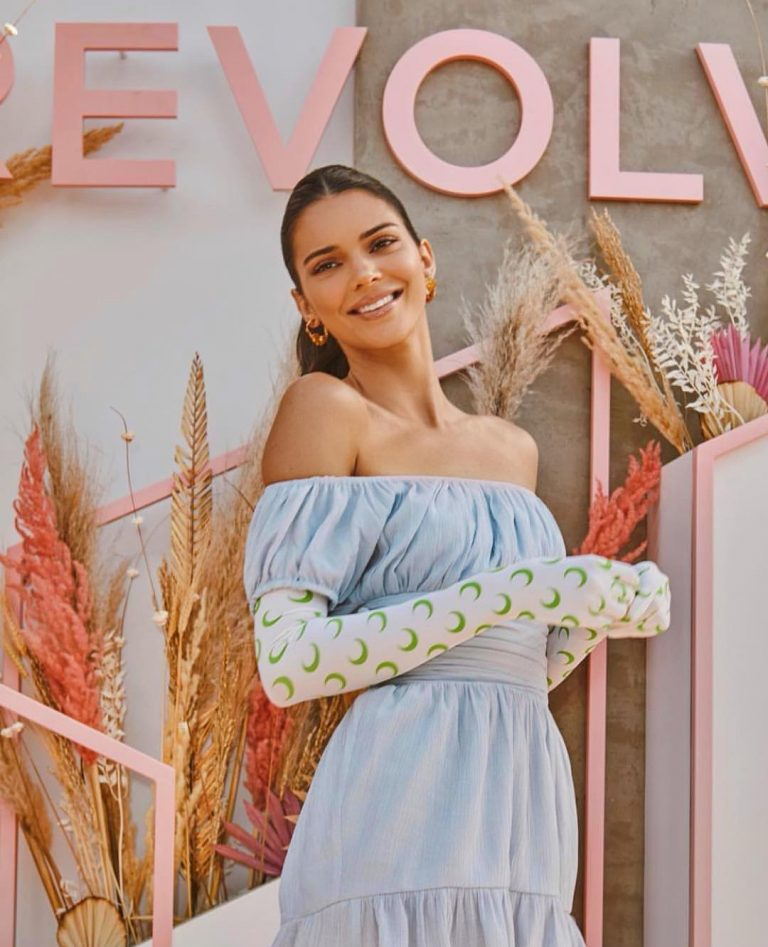 Kendall Jenner in a Regal Look at Revolve Festival Party 2019 1