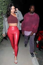 Kim Kardashian and Kanye West Leaves Travis Scott's Birthday Party in Thousand Oaks 2019/04/25 1