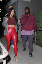 Kim Kardashian and Kanye West Leaves Travis Scott's Birthday Party in Thousand Oaks 2019/04/25 11