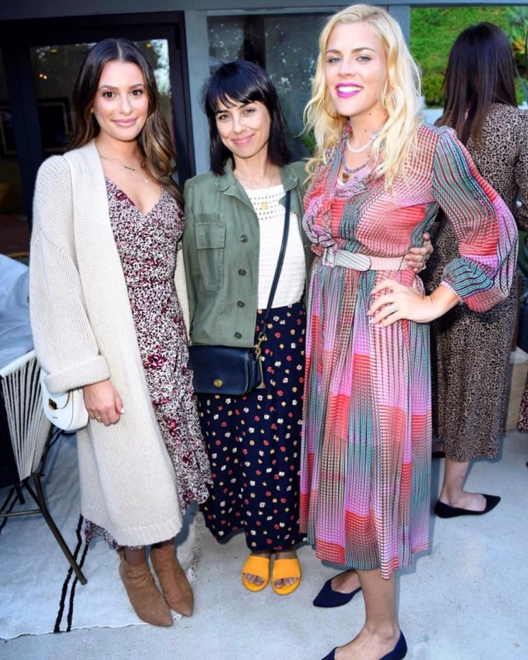 Lea Michele, Busy Philipps and Constance Zimmer celebrating Sakara Life 1