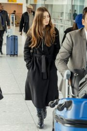 Lily Collins at Heathrow Airport in London 2019/04/24 9