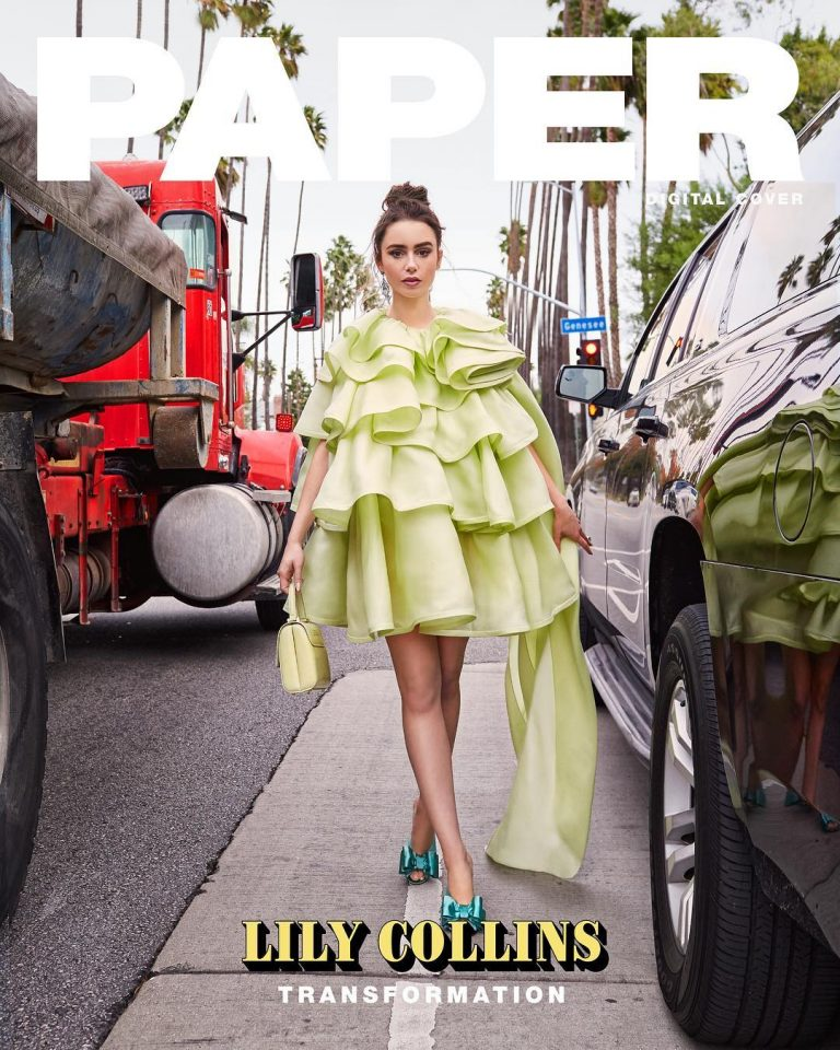Lily Collins Digital Cover Girl Of Paper Magazine In April 2019 2