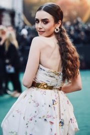 Lily Collins leads the glamour in a most stunning outfit as she is on the green carpet at Tolkien's UK premiere 1