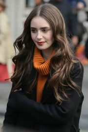 Lily Collins Promotes Her New Film Tolkien at Kiss Radio Studios in London 2019/04/29 7