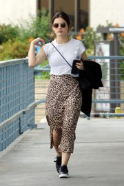 Lucy Hale Out Animal Print Skirt in Los Angeles 2019/04/30 4