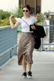 Lucy Hale Out Animal Print Skirt in Los Angeles 2019/04/30 7
