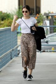 Lucy Hale Out Animal Print Skirt in Los Angeles 2019/04/30 9