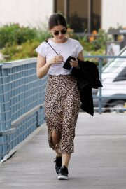 Lucy Hale Out Animal Print Skirt in Los Angeles 2019/04/30 11