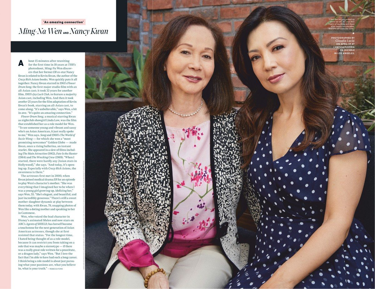 Ming-Na Wen and Nancy Kwan at The Hollywood Reporter Magazine 2019/04/30 1