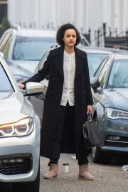 Nathalie Emmanuel at Four Weddings and a funeral TV show in West London 2019/04/23 2