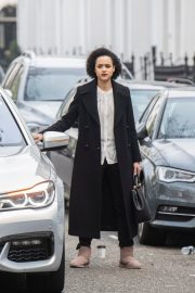 Nathalie Emmanuel at Four Weddings and a funeral TV show in West London 2019/04/23 4