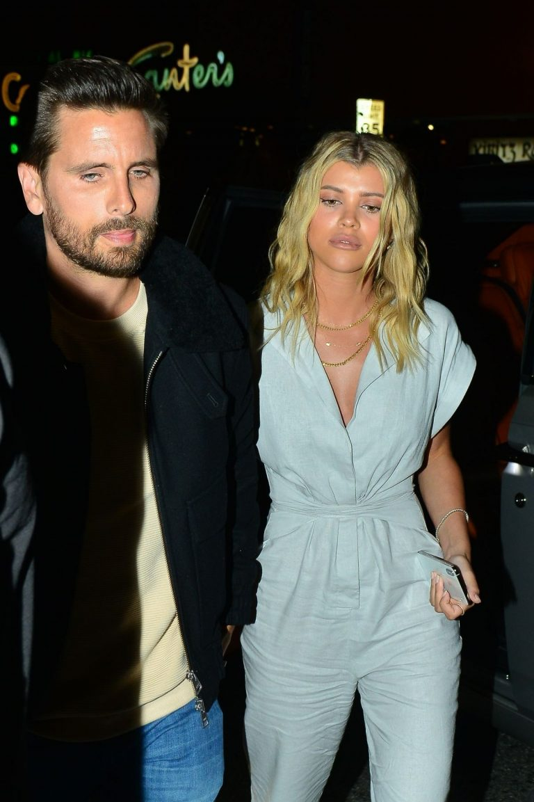 Sofia Richie and Scott Disick at No Name Restaurant in Los Angeles 2019/04/26 1