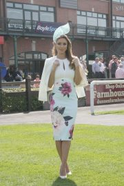 Una Healy attends Ladies Day at Fairyhouse Races in Ireland 2019/04/22 2