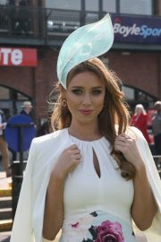 Una Healy attends Ladies Day at Fairyhouse Races in Ireland 2019/04/22 10