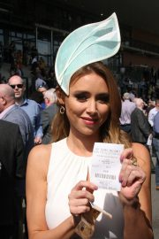 Una Healy attends Ladies Day at Fairyhouse Races in Ireland 2019/04/22 11