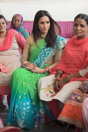 Unseen Footage Shows Meghan Markle In Saree During India Visit 2