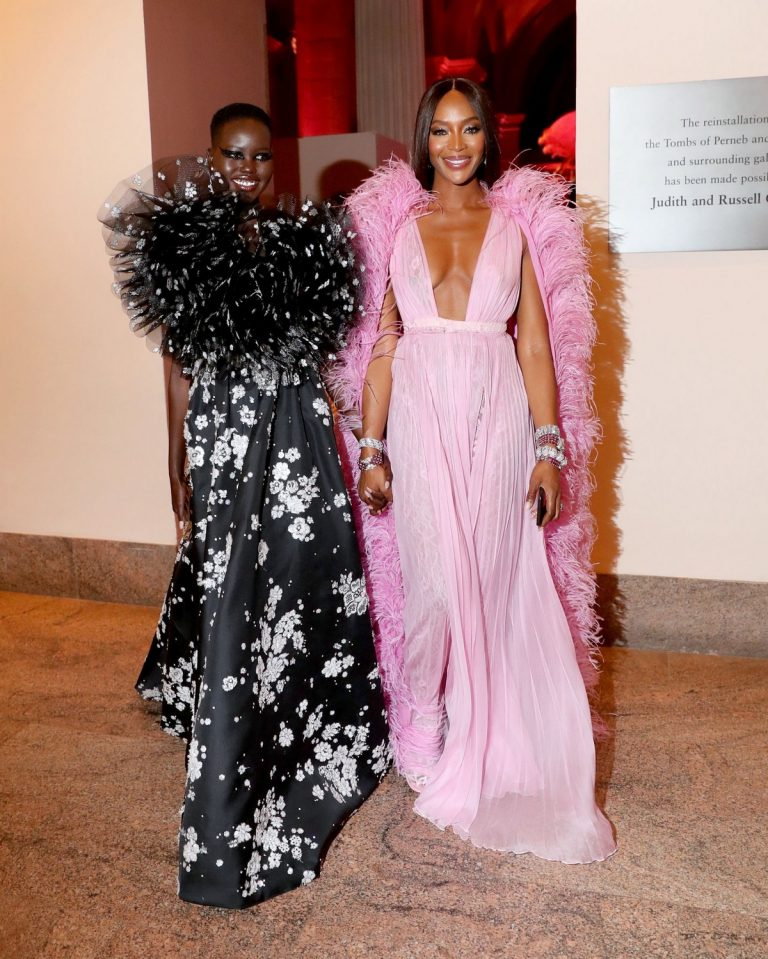 Adut Akech Bior and Naomi Campbell at The 2019 Met Gala New York 2019/05/06 2