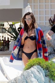Alessandra Ambrosio in Black Bikini in Cannes 2019/05/16 6