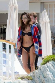 Alessandra Ambrosio in Black Bikini in Cannes 2019/05/16 8