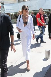 Alessandra Ambrosio in white outfit during 72nd Cannes Film Festival in Cannes 2019/05/14 2