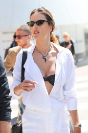 Alessandra Ambrosio in white outfit during 72nd Cannes Film Festival in Cannes 2019/05/14 4
