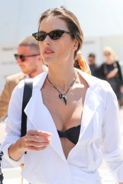 Alessandra Ambrosio in white outfit during 72nd Cannes Film Festival in Cannes 2019/05/14 5