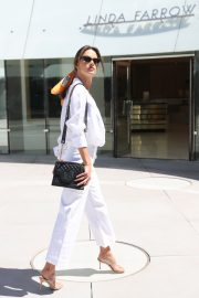 Alessandra Ambrosio in white outfit during 72nd Cannes Film Festival in Cannes 2019/05/14 10