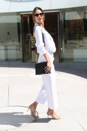 Alessandra Ambrosio in white outfit during 72nd Cannes Film Festival in Cannes 2019/05/14 13