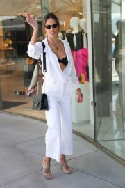 Alessandra Ambrosio in white outfit during 72nd Cannes Film Festival in Cannes 2019/05/14 16