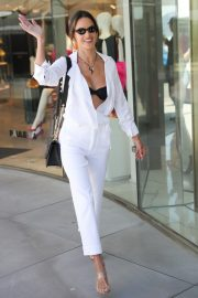 Alessandra Ambrosio in white outfit during 72nd Cannes Film Festival in Cannes 2019/05/14 17