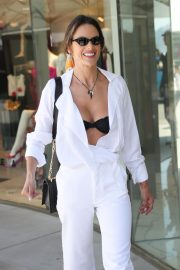 Alessandra Ambrosio in white outfit during 72nd Cannes Film Festival in Cannes 2019/05/14 19