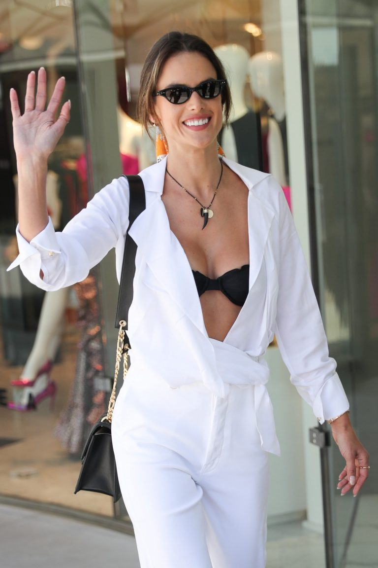 Alessandra Ambrosio in white outfit during 72nd Cannes Film Festival in Cannes 2019/05/14 20