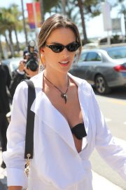 Alessandra Ambrosio in white outfit during 72nd Cannes Film Festival in Cannes 2019/05/14 22